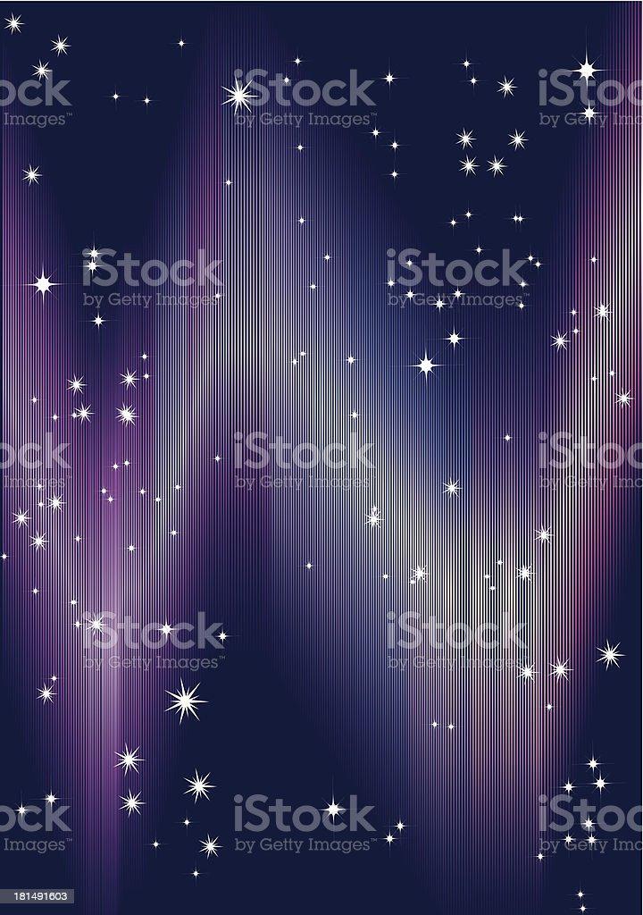 aurora and stars royalty-free stock vector art