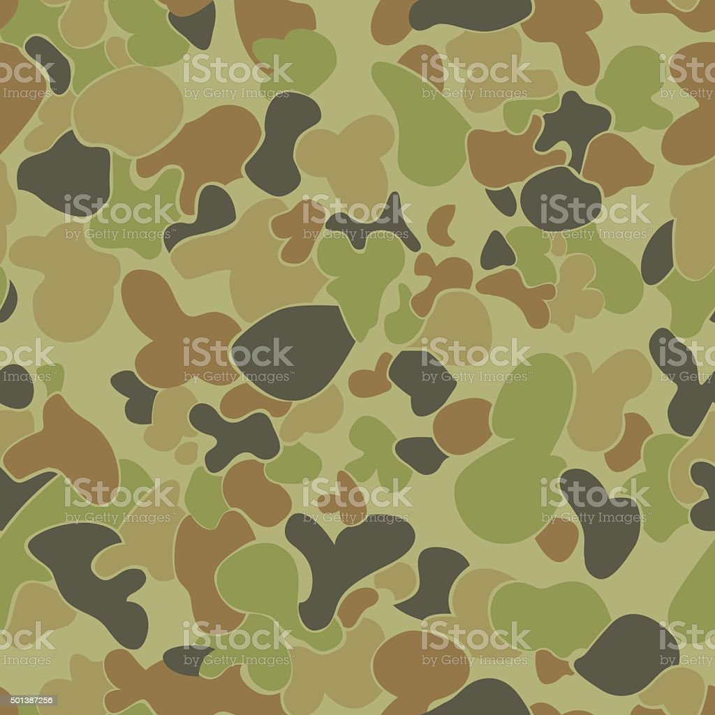 Auscam pattern. vector art illustration
