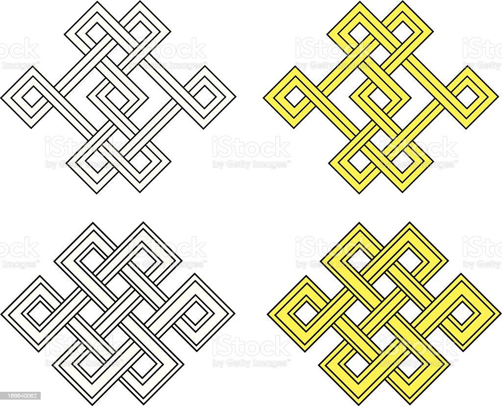 Auspicious knot royalty-free stock vector art