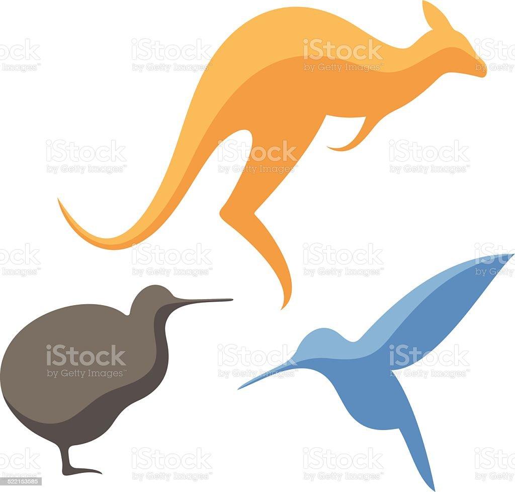 Australia. Animals vector art illustration
