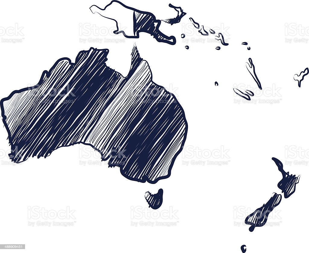 Australia continent vector art illustration