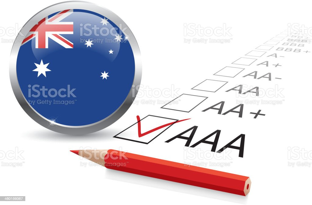 Australia credit rating vector art illustration