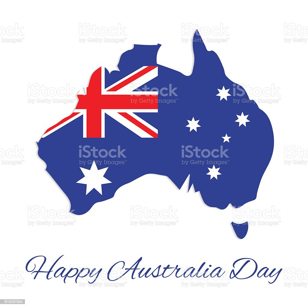 Australia Day vector art illustration