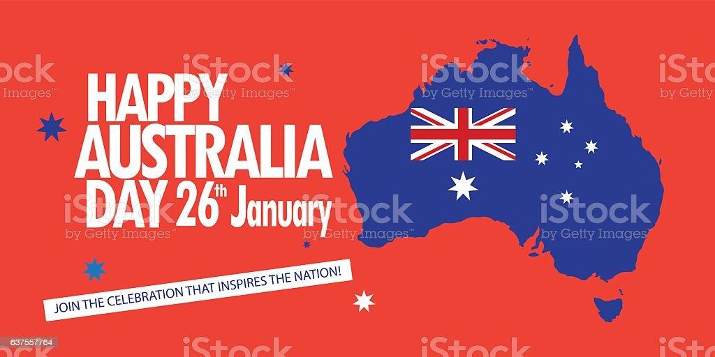Australia Day vector art illustration