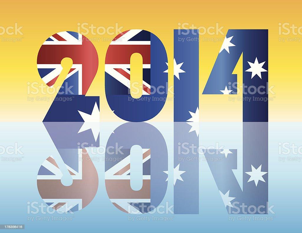 Australia Flag 2014 Silhouette Vector Illustration royalty-free stock vector art