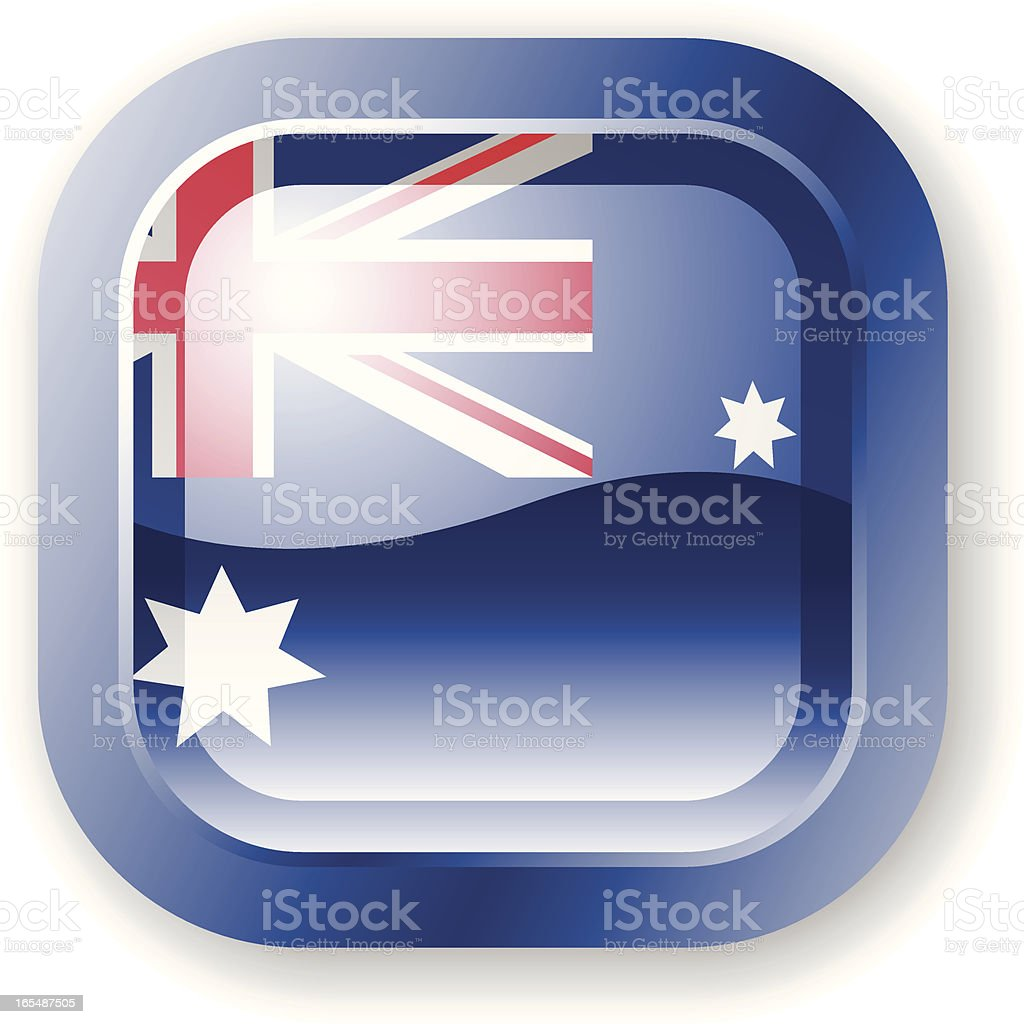 Australia Flag Icon royalty-free stock vector art