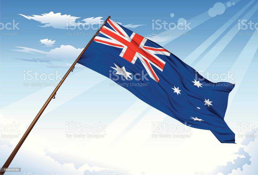 Australia Flag royalty-free stock vector art