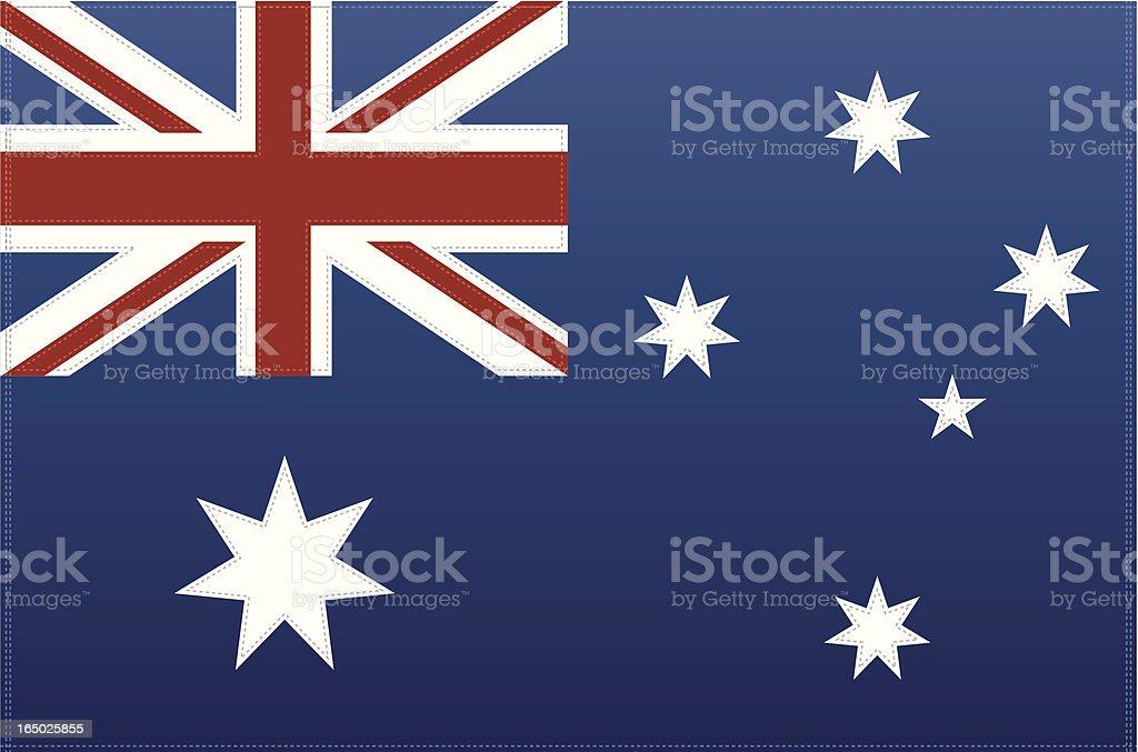Australia Flag (Vector) vector art illustration