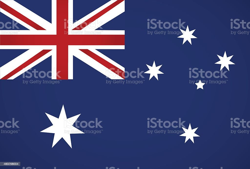 Australia flag. vector art illustration