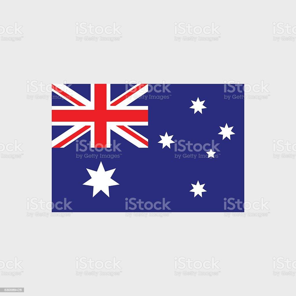 Australia flag vector art illustration