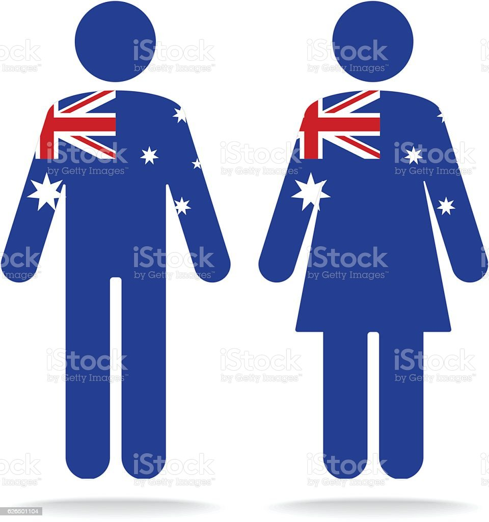 Australia Flag vector art illustration