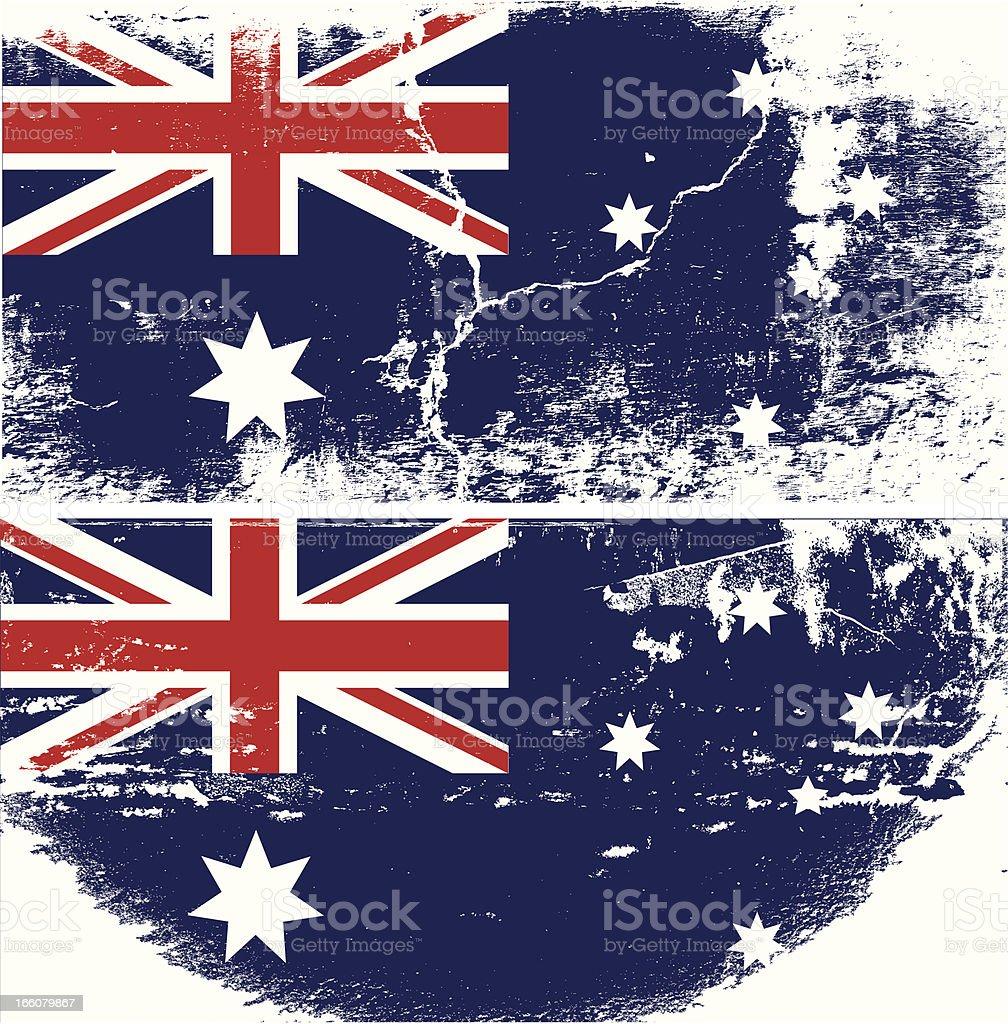 Australia Grunge flag vector art illustration