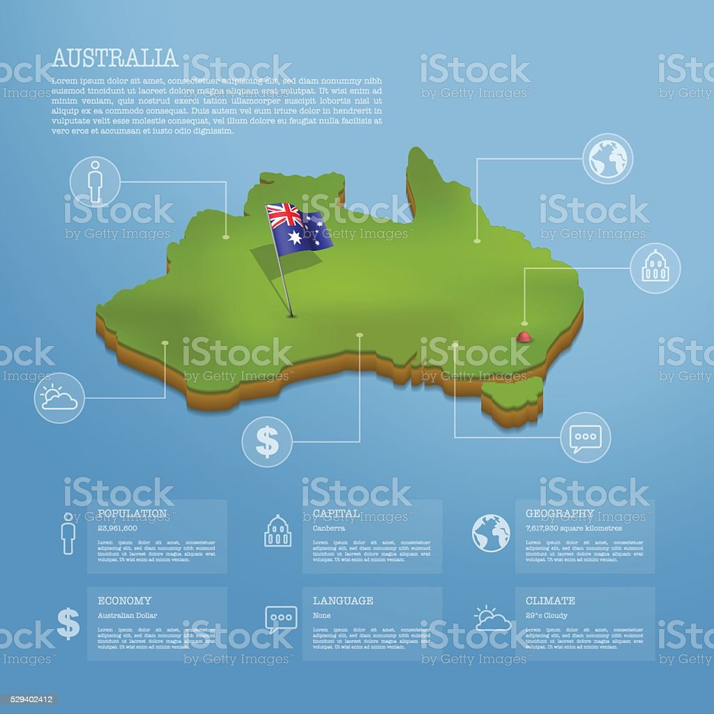 australia infographic vector art illustration