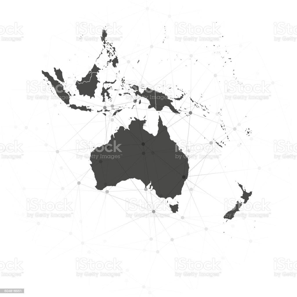 Australia map background vector, illustration for communication vector art illustration
