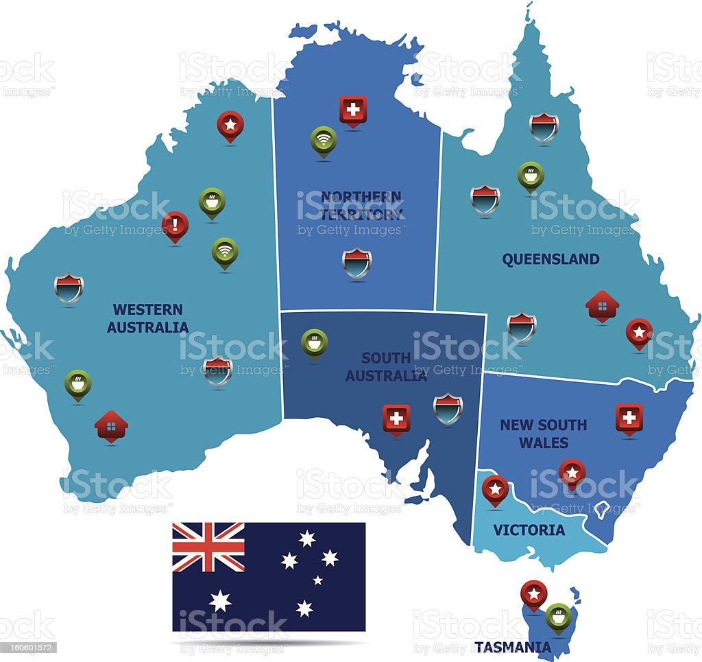Australia Map royalty-free stock vector art