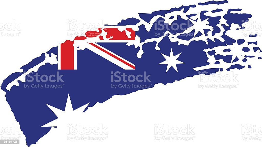 Australia painted flag vector art illustration