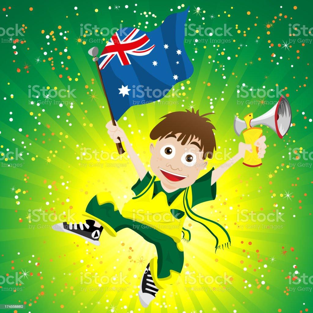 Australia Soccer Fan Boy royalty-free stock vector art