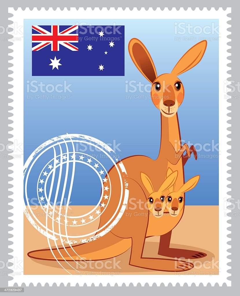 Australia Stamp royalty-free stock vector art