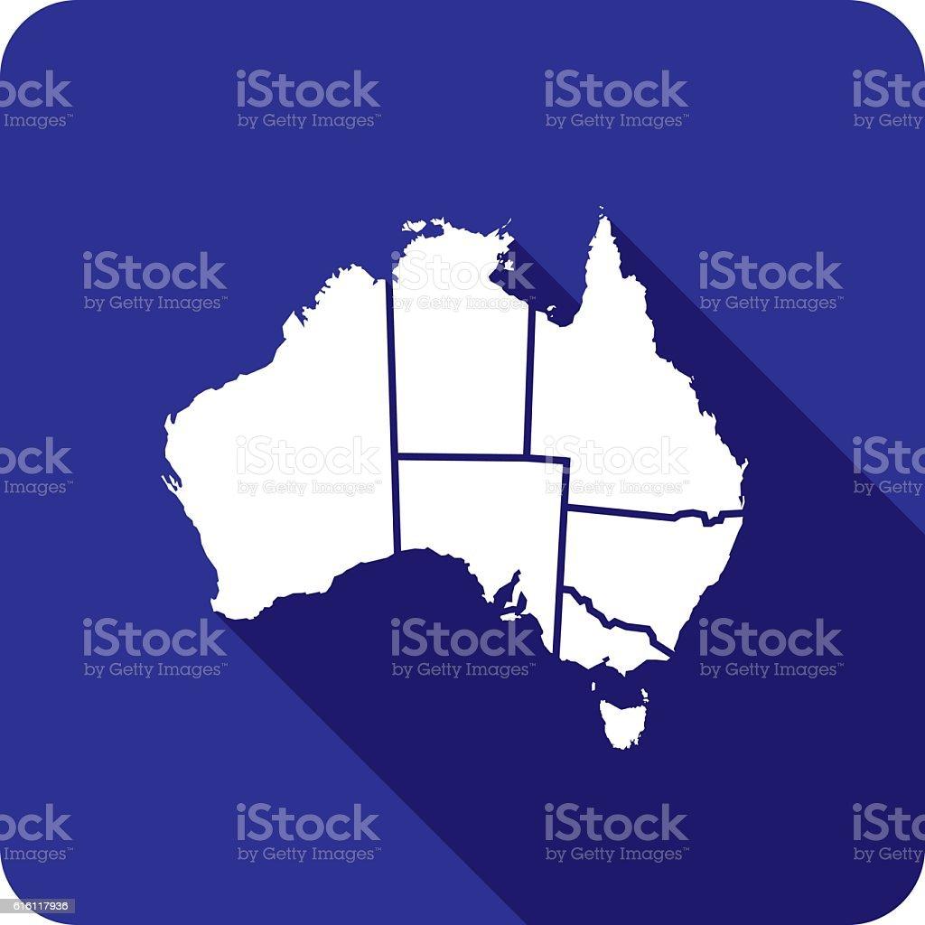 Australia Territories Icon Silhouette vector art illustration