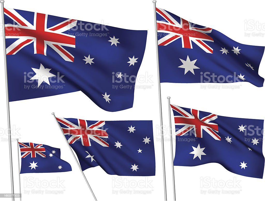 Australia vector flags royalty-free stock vector art