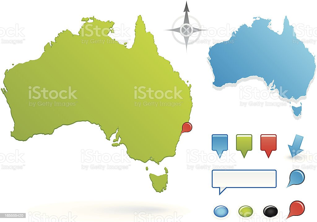 Australia royalty-free stock vector art