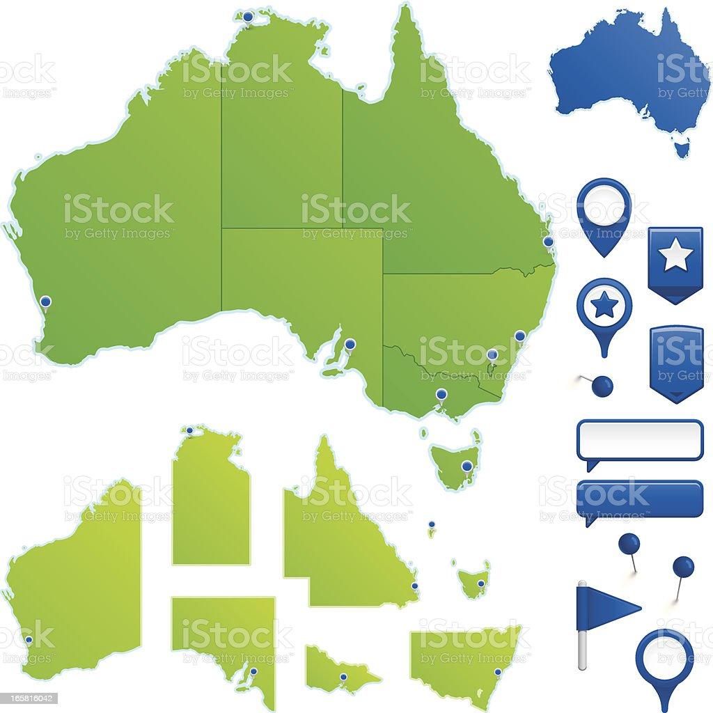Australia vector art illustration