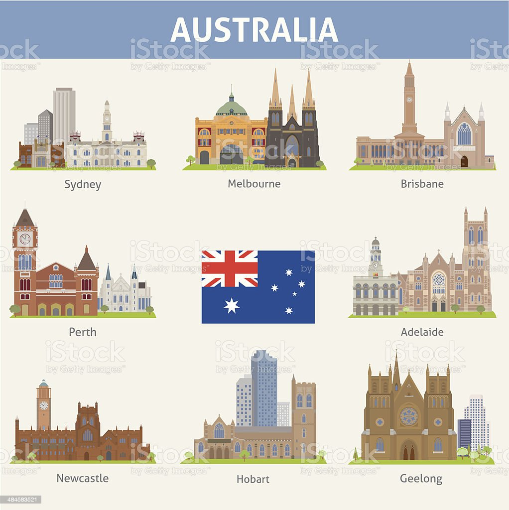 Australia. vector art illustration