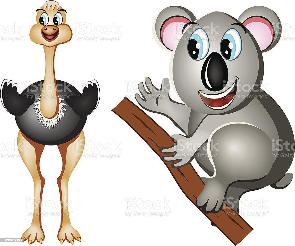 Australian Animals royalty-free stock vector art