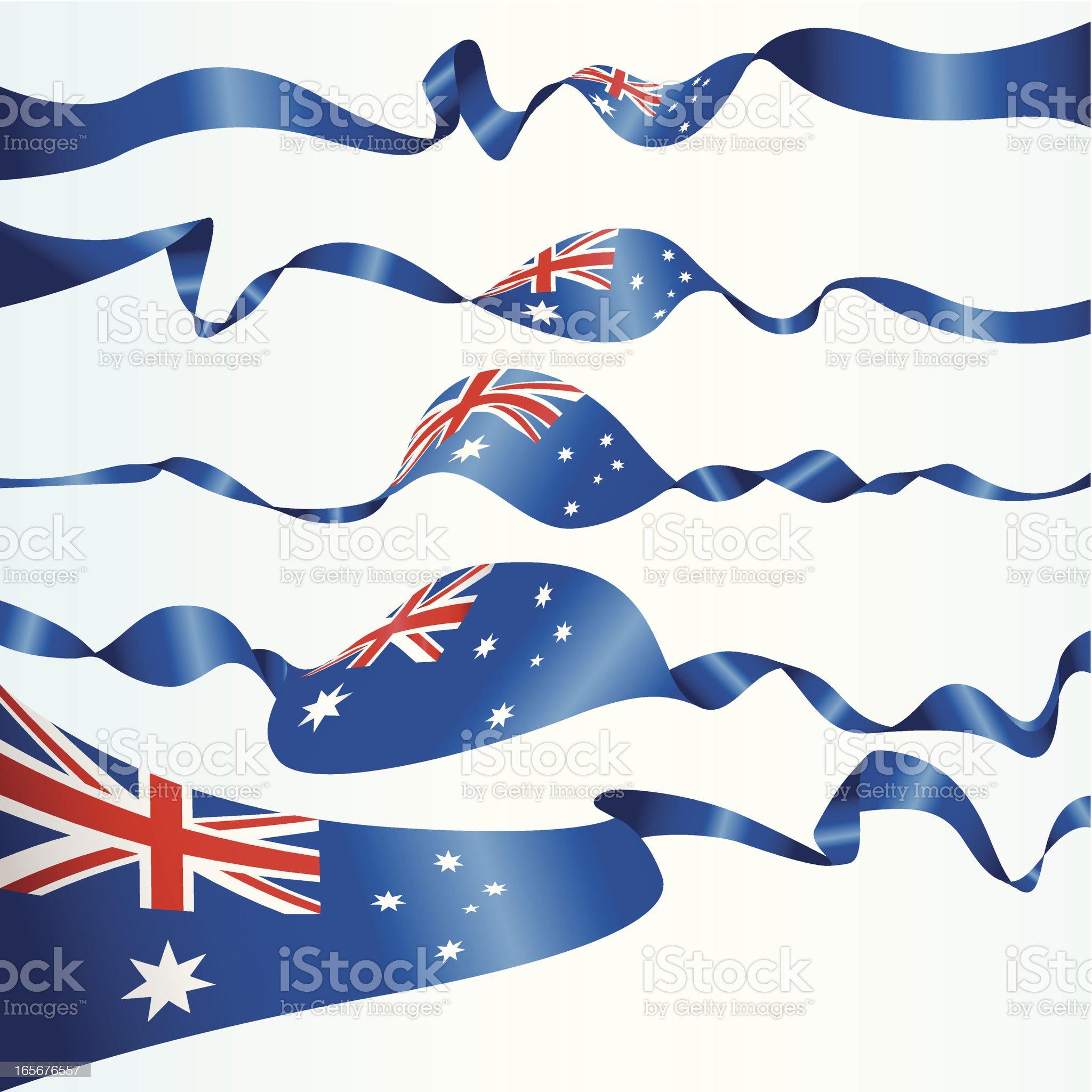 Australian Banners royalty-free stock vector art