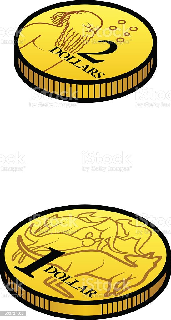Australian Coins stock vector art 500727503 | iStock