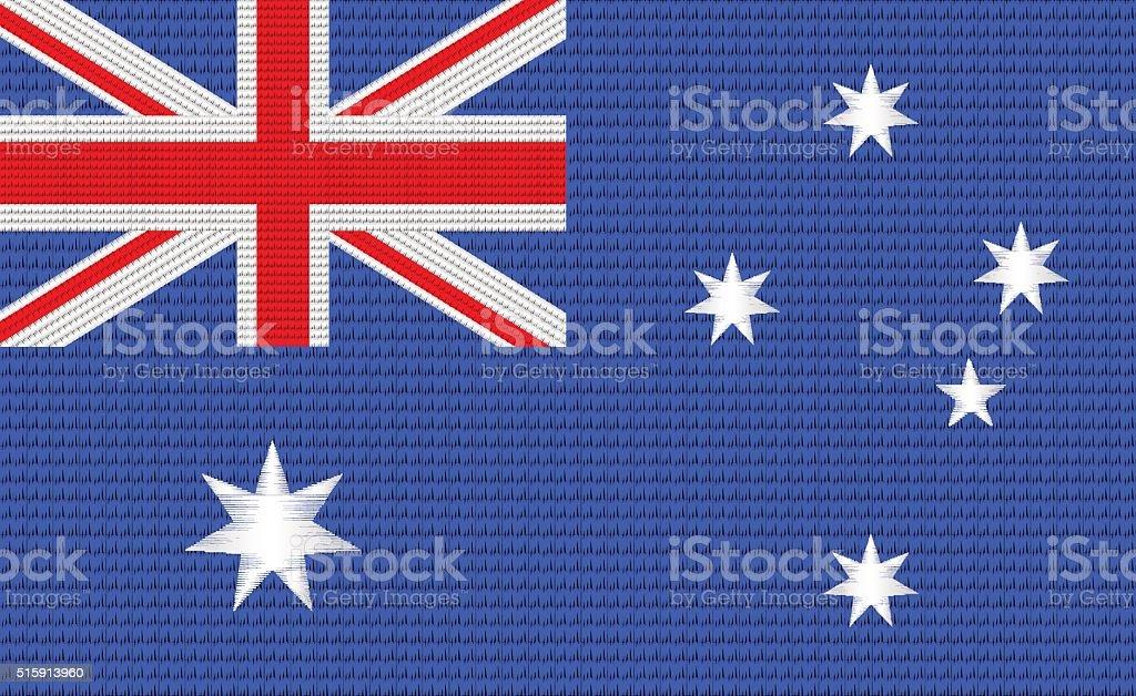 Australian flag embroidery design pattern vector art illustration