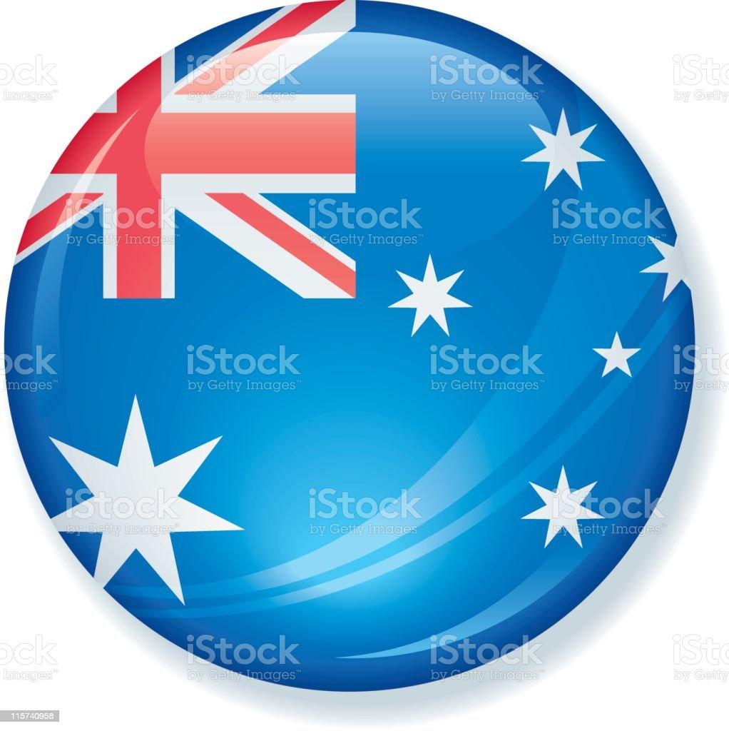 Australian Flag Satin Button royalty-free stock vector art