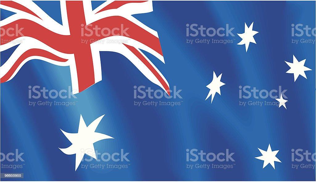 Australian flag vector art illustration