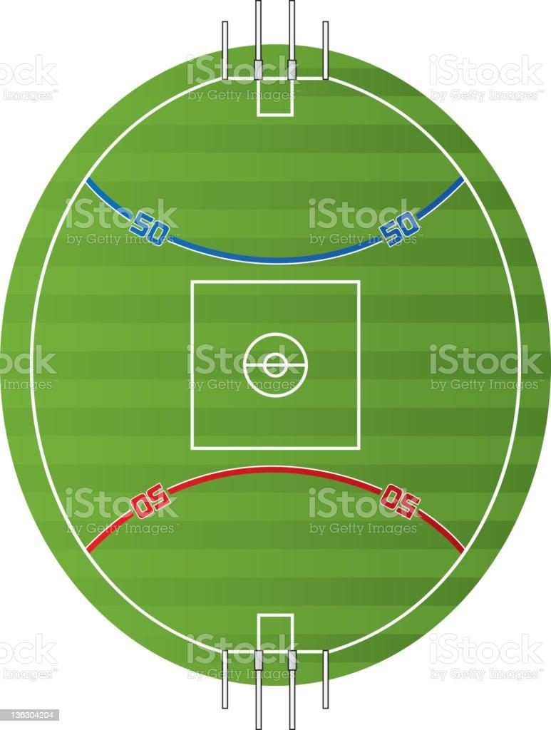 Australian Football Field vector art illustration