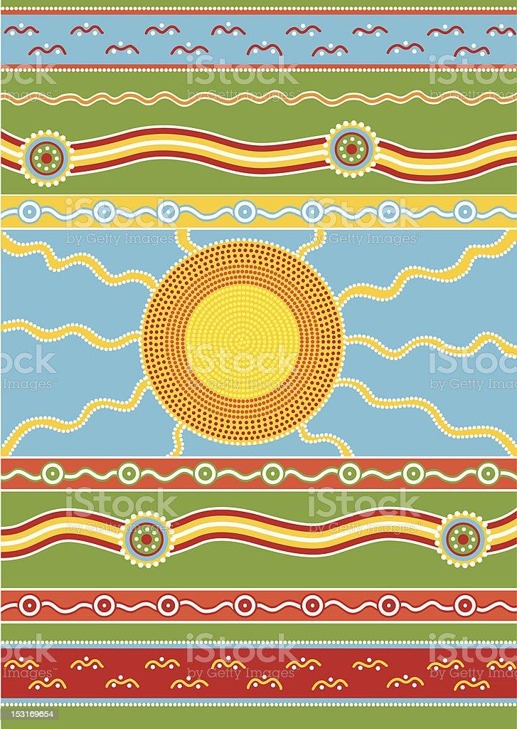 Australian pattern royalty-free stock vector art