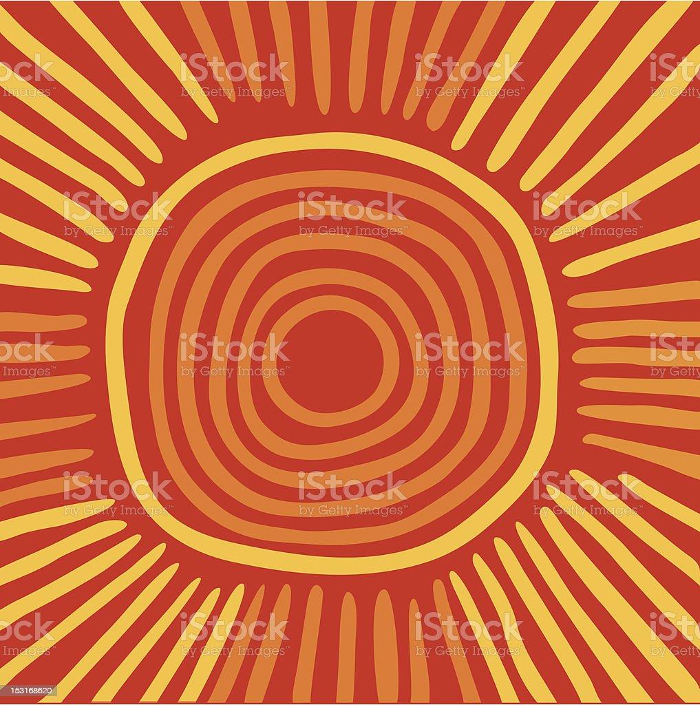 Australian sun royalty-free stock vector art