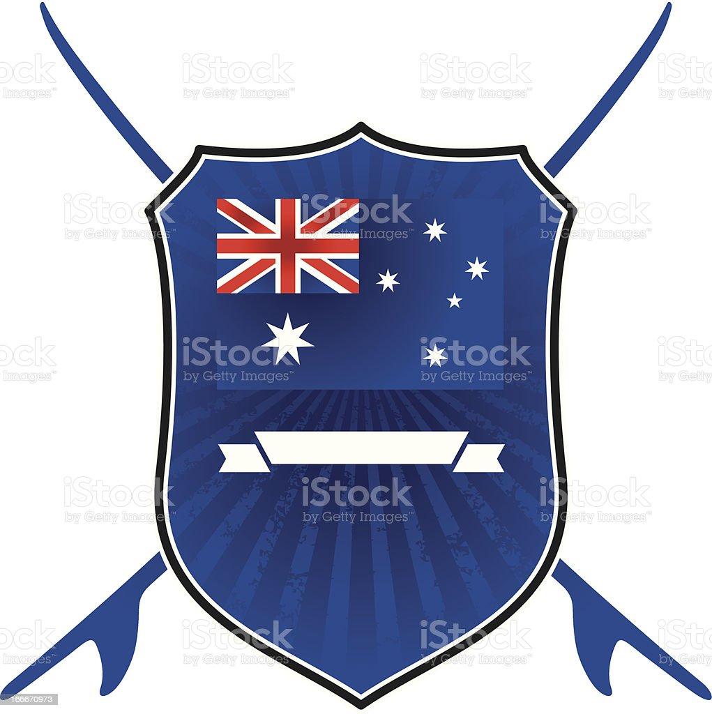 australian surf shield royalty-free stock vector art