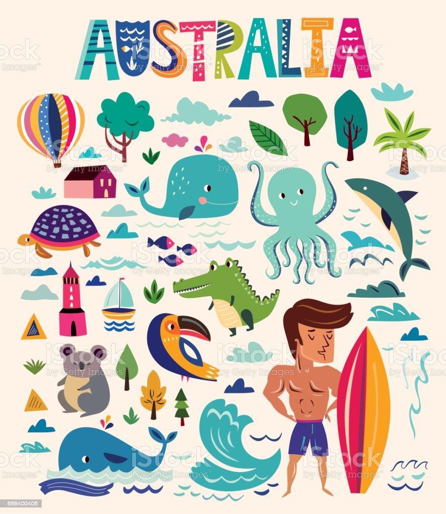 Making australia home design lessons tes teach australian symbols stock vector art 688400406 istock biocorpaavc Choice Image