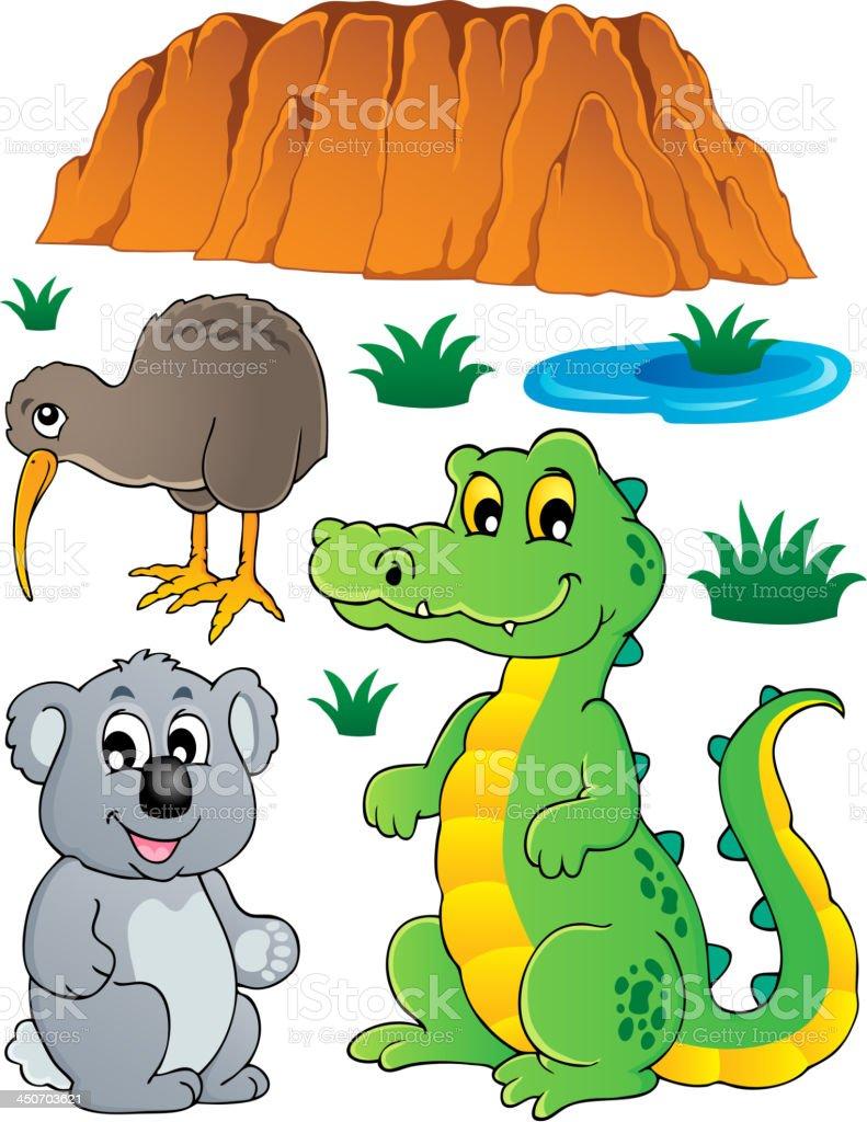 Australian wildlife fauna set 3 royalty-free stock vector art