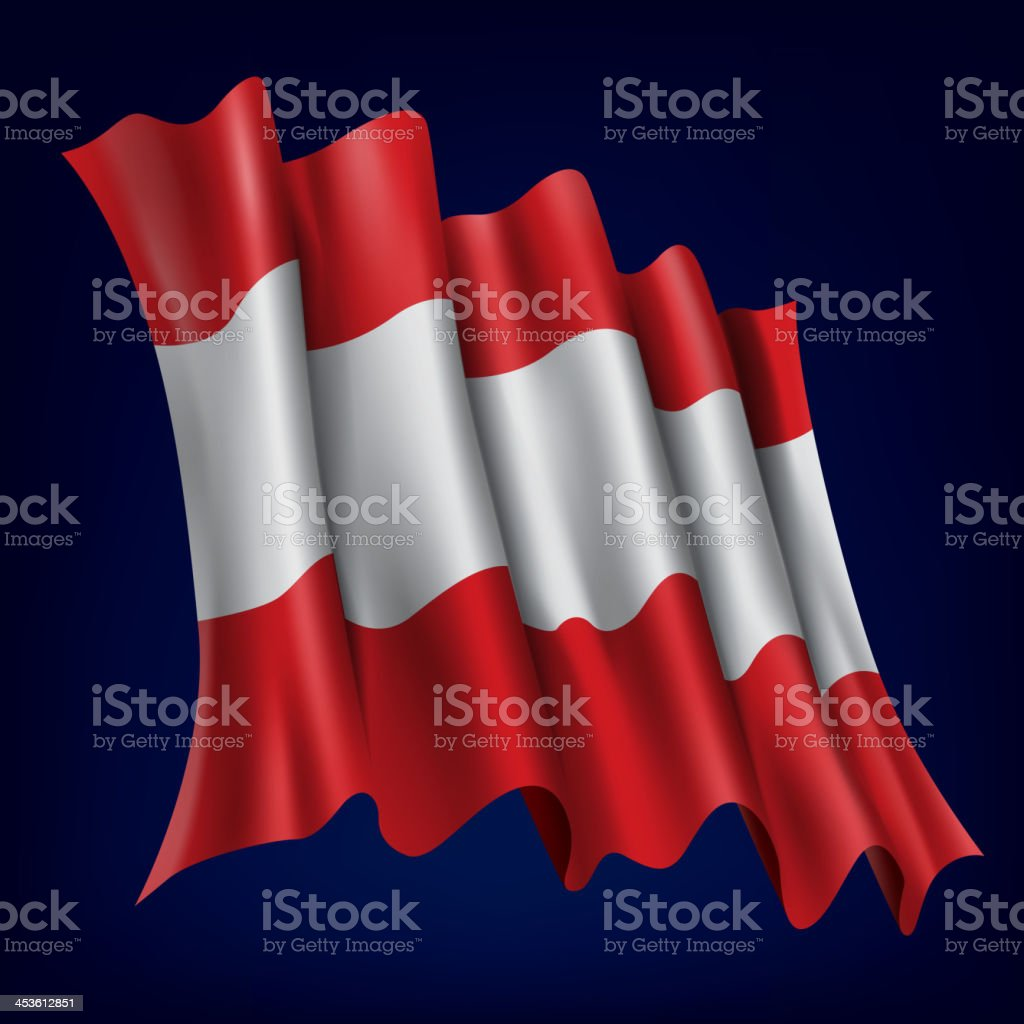 Austria, Austrian Flag royalty-free stock vector art