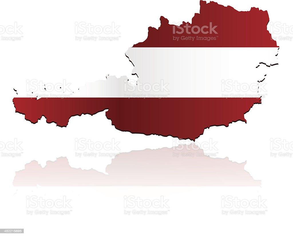 Austria flag map royalty-free stock vector art