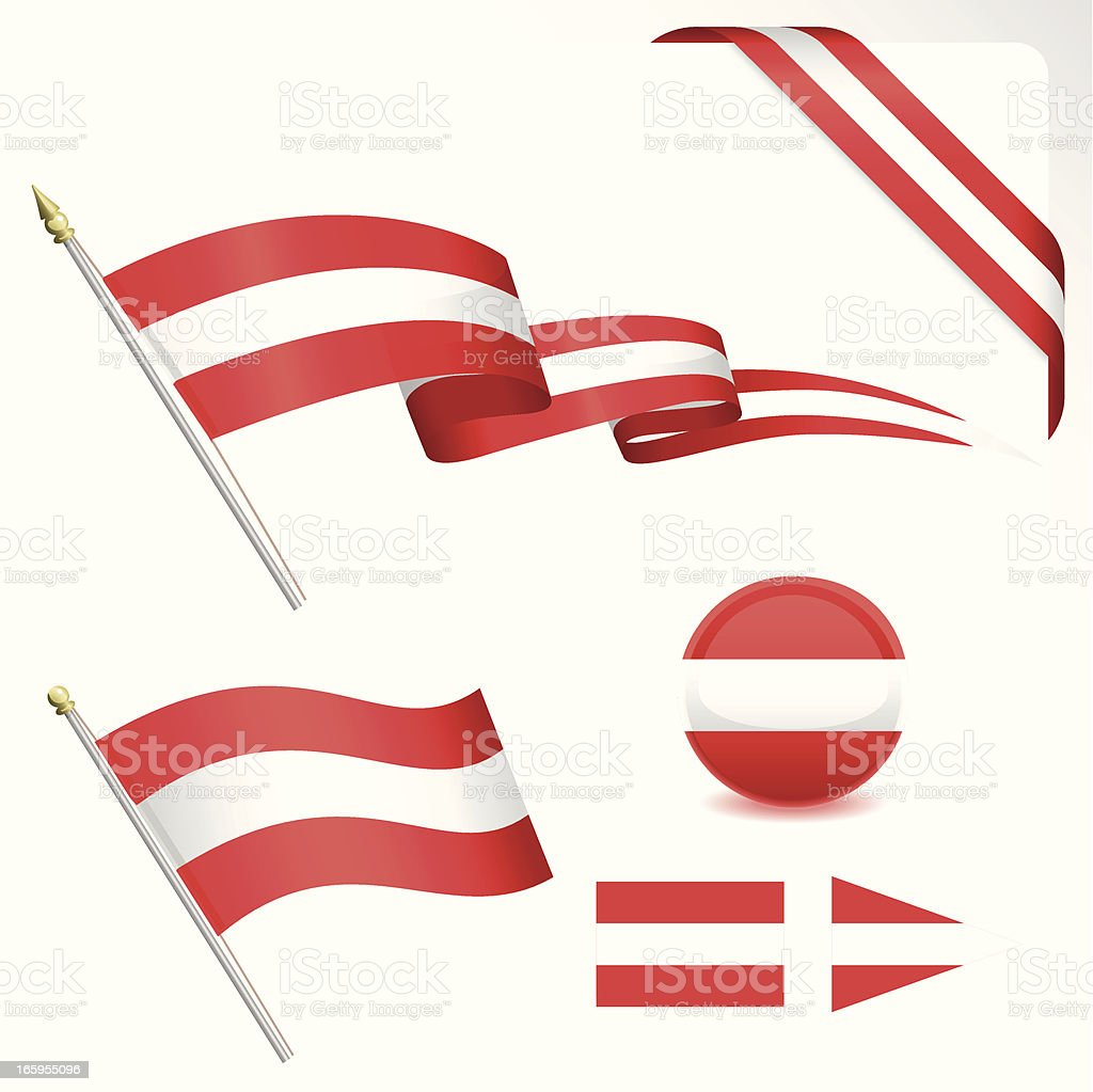 Austria Flag Set royalty-free stock vector art