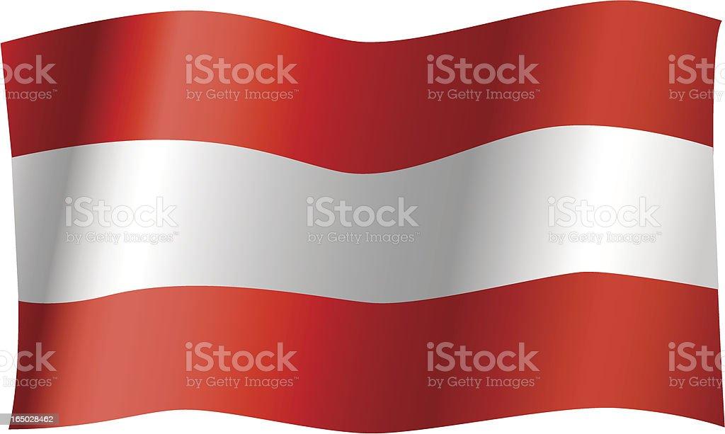 Austria Flag (Vector) royalty-free stock vector art
