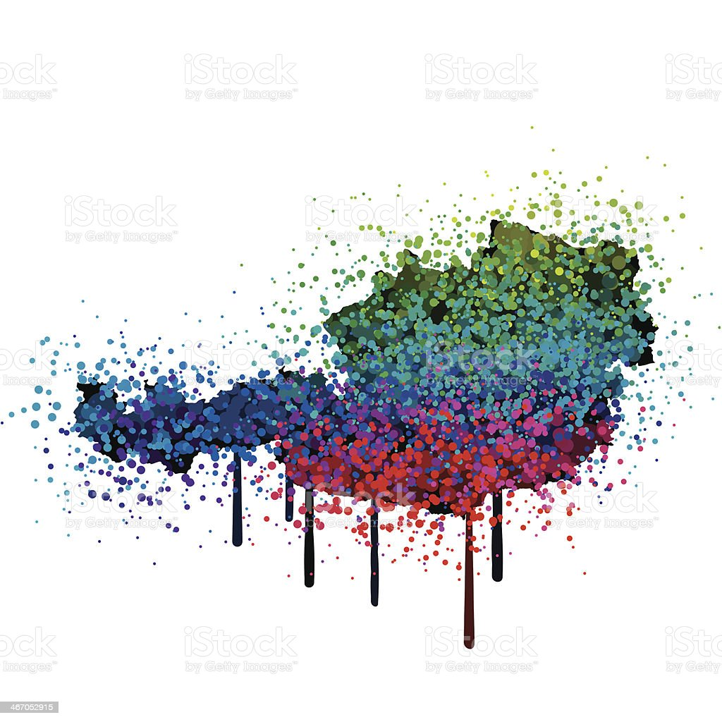 Austria Map Colorful Paint Graffiti royalty-free stock vector art