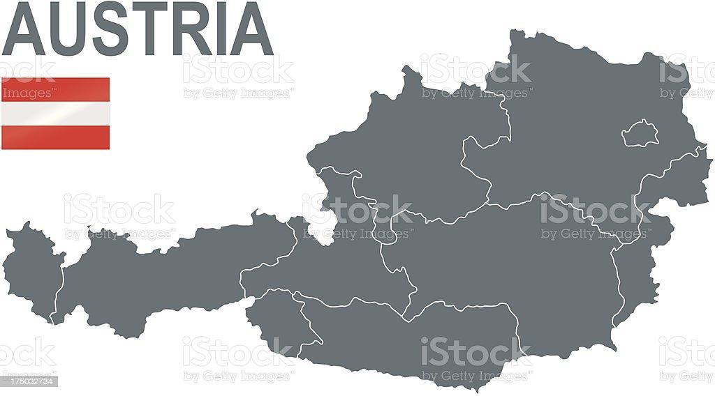 Austria vector art illustration