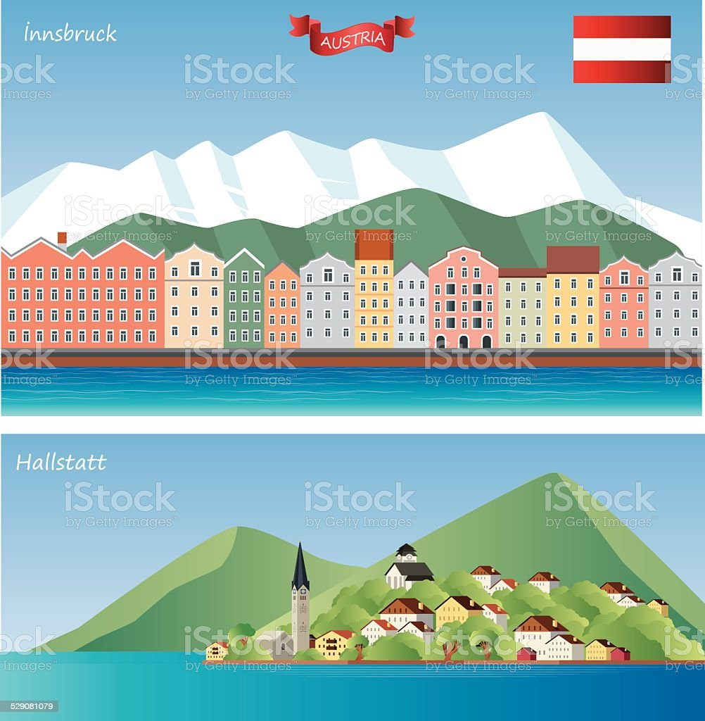 Austria vector art illustration