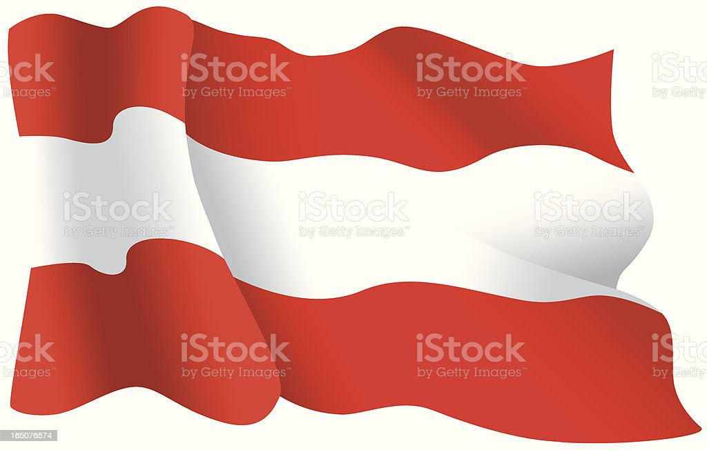 Austrian Flag royalty-free stock vector art