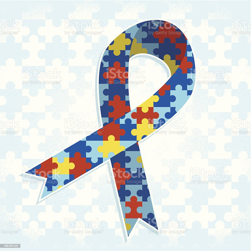 Autism Ribbon vector art illustration