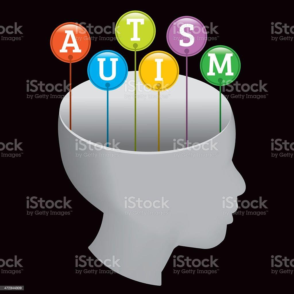 Autism Silhouette vector art illustration