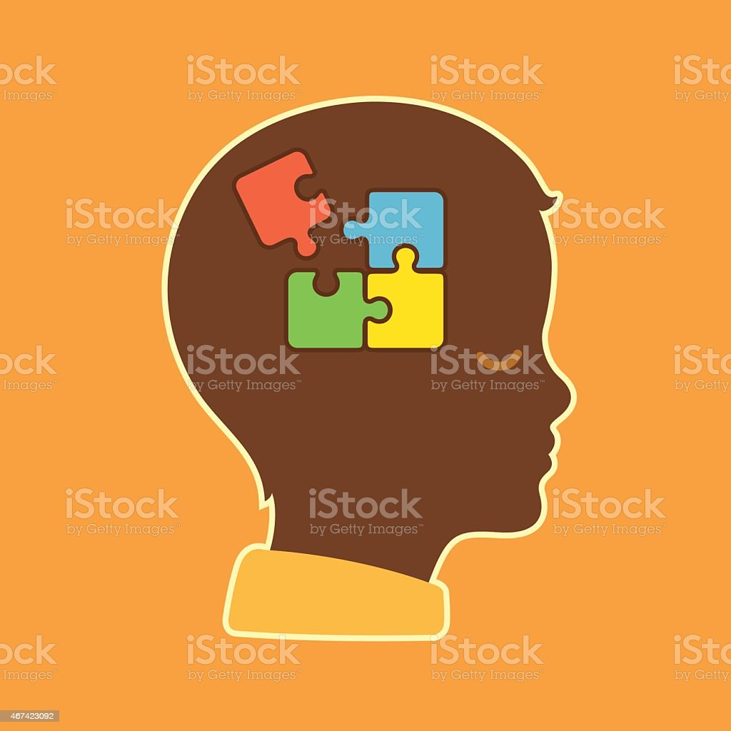 Autism vector art illustration